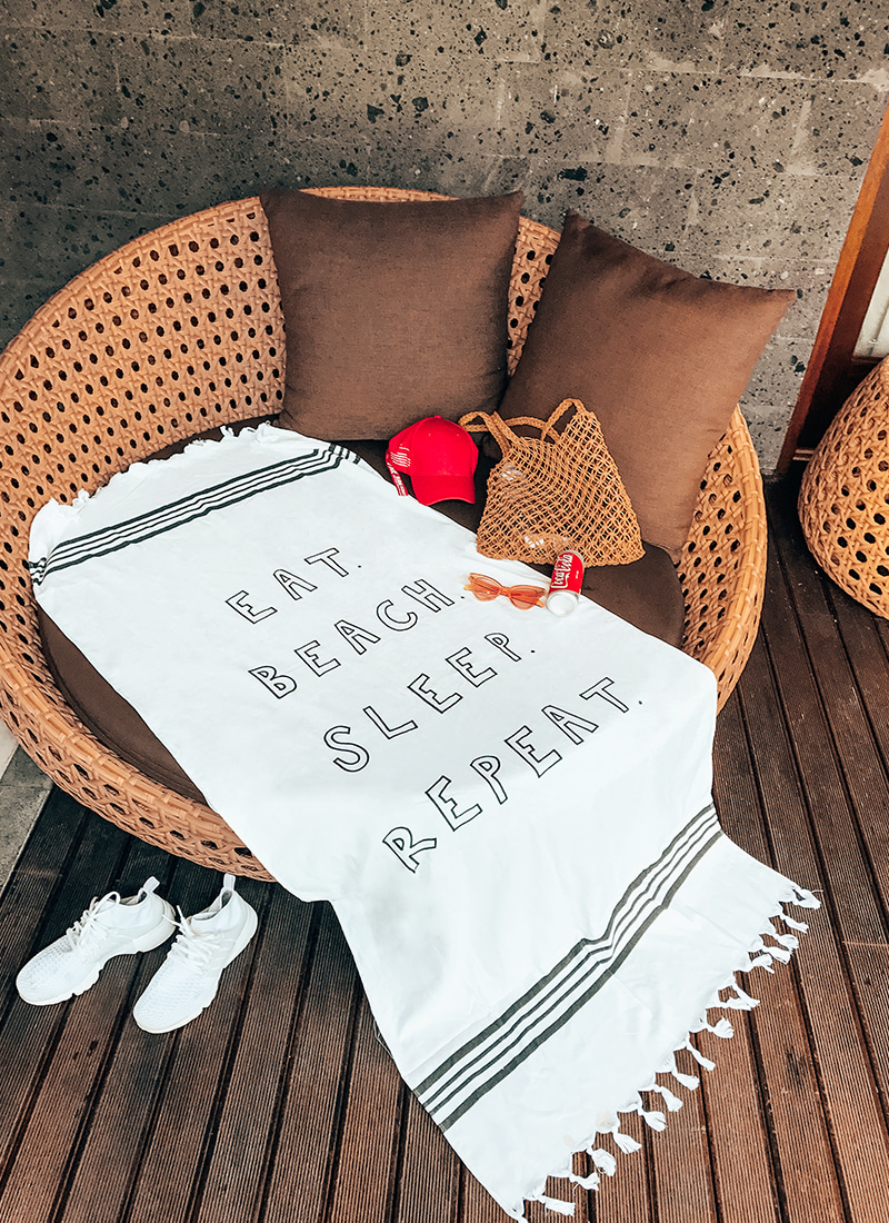 'EAT BEACH SLEEP REPEAT' Beach Towel